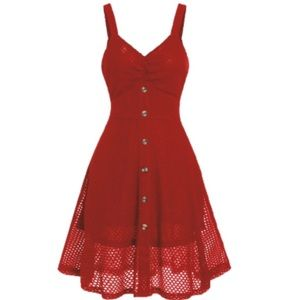 Dresses - ❤️COMING SOON❤️ Red A-Line midi Dress Size 8